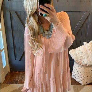 NWT Etheral Bohemian Lace Spring Dress Sz L